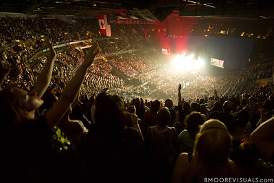 A view of the sold-out arena as Hillsong United perform on August 5, 2011 at St. Pete Times Forum in Tampa, Florida