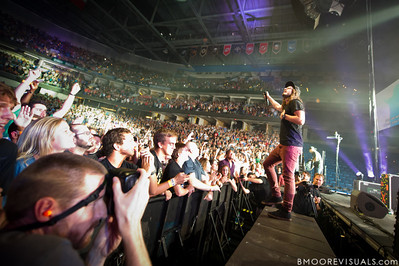 "Jonathon ""J.D."" Douglass of Hillsong United performs in front of a sold out crowd on August 5, 2011 at St. Pete Times Forum in Tampa, Florida"