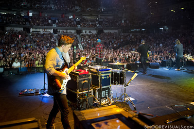 Dylan Thomas of Hillsong United performs in front of a sold out crowd on August 5, 2011 at St. Pete Times Forum in Tampa, Florida