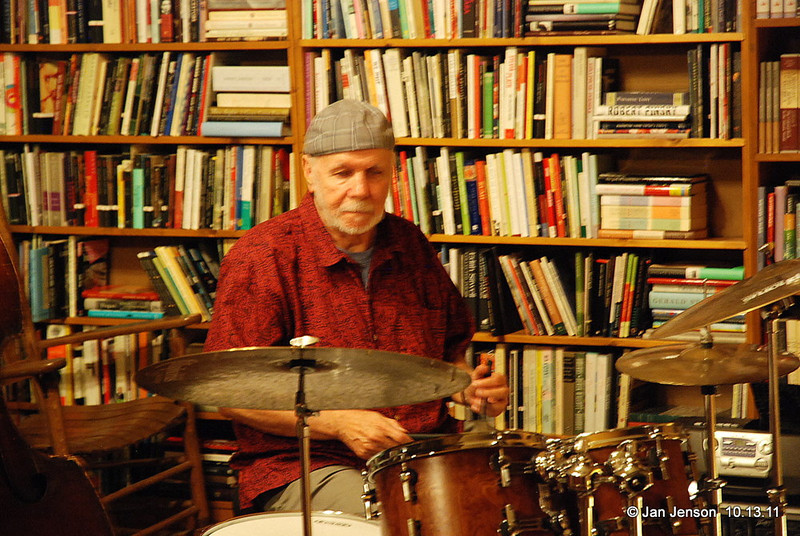 Ron Free, drummer extra-ordinaire!  His photos are sprinkled liberally throughout E. Eugene Smiths pictures in the Jazz Loft Project book, compiled over a 7-year period by Sam Stephenson.
