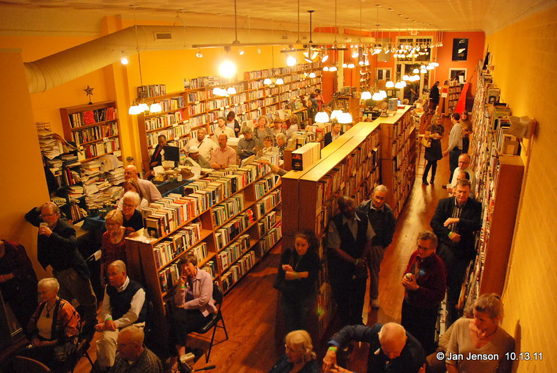 Crowd at the Literary Bookpost in Salisbury, NC on Thursday, October 13, 2011.