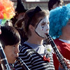"Mackinley Kath, center, plays a mime, while playing the the Longmont High School Marching Band.<br /> The annual Longmont Halloween Parade and Trick or Treat Street was held down Main Street Saturday morning<br /> For more photos and a video, go to  <a href=""http://www.timescall.com"">http://www.timescall.com</a>.<br /> Cliff Grassmick  / October 27, 2012"