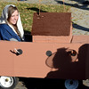 "Myra Sommerville, playing Noah's wife, rides out the storm in the Arc before the parade.<br /> The annual Longmont Halloween Parade and Trick or Treat Street was held down Main Street Saturday morning<br /> For more photos and a video, go to  <a href=""http://www.timescall.com"">http://www.timescall.com</a>.<br /> Cliff Grassmick  / October 27, 2012"