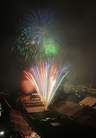 Ralphie's Independence Day Blast at Folsom Field was a success after a rain delay.<br /> Cliff Grassmick / July 4, 2010