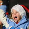 Rhys Hayzlett, 9, gives a cheer during the Holiday Tree Lighting Ceremony at the Broomfield City and County Building on Friday.<br /> December 4, 2009<br /> Staff photo/David R. Jennings