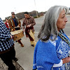 "Dora Esquibel, right, and other members of the Apache Tribe of Colorado, march in the All Cultures, One Voice Martin Luther King celebration in Longmont on Sunday.<br /> For more photos and a video of the march, go to  <a href=""http://www.dailycamera.com"">http://www.dailycamera.com</a>.<br /> January 15, 2012 / Cliff Grassmick"
