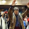 "David Atekpatzin Young of the Apache Tribe of Colorado, leads a pray at the Longmont Martin Luther King celebration on Sunday.<br /> For more photos and a video of the march, go to  <a href=""http://www.dailycamera.com"">http://www.dailycamera.com</a>.<br /> January 15, 2012 / Cliff Grassmick"