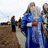"Dora Esquibel, left, and her granddaughter, Miranda Encina-Serrano, lead a group of marchers down Sunset Street in Longmont on Sunday to celebrate the birthday of Martin Luther King.<br /> For more photos and a video of the march, go to  <a href=""http://www.dailycamera.com"">http://www.dailycamera.com</a>.<br /> January 15, 2012 / Cliff Grassmick"