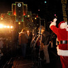 "Santa Claus watches the lights come on at the Downtown Boulder Courthouse on Sunday.<br /> Santa Claus flipped  the switch that lit up the Pearl Street Mall and Boulder County Courthouse, as well as the star on Flagstaff Mountain.<br /> For a video of the activities, go to  <a href=""http://www.dailycamera.com"">http://www.dailycamera.com</a>.<br /> Cliff Grassmick  / November 18, 2012"