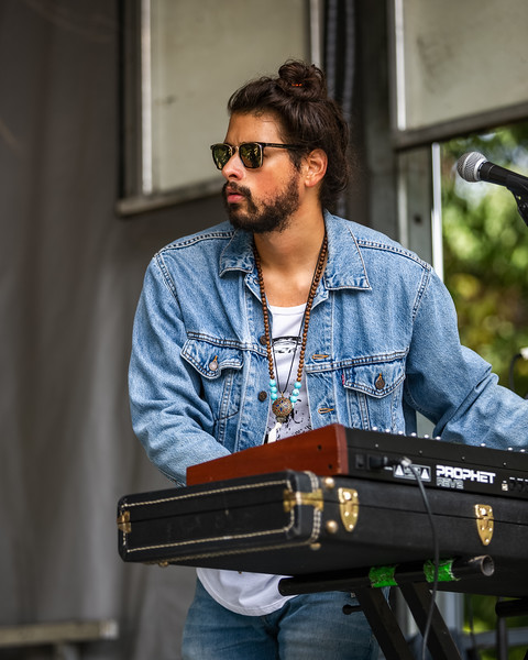 Joshua Powell on the Hilltop Stage at Holler on the Hill. Photo by Tony Vasquez