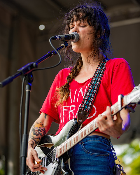 Lilly Hiatt on the Hilltop Stage at Holler on the Hill. Photo by Tony Vasquez