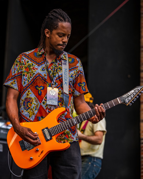 Black Joe Lewis on the Main Stage at Holler On The Hill. Photo by Tony Vasquez