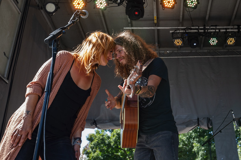 Brent Cowles on the Hilltop Stage at Holler on the Hill. Photo by Tony Vasquez.
