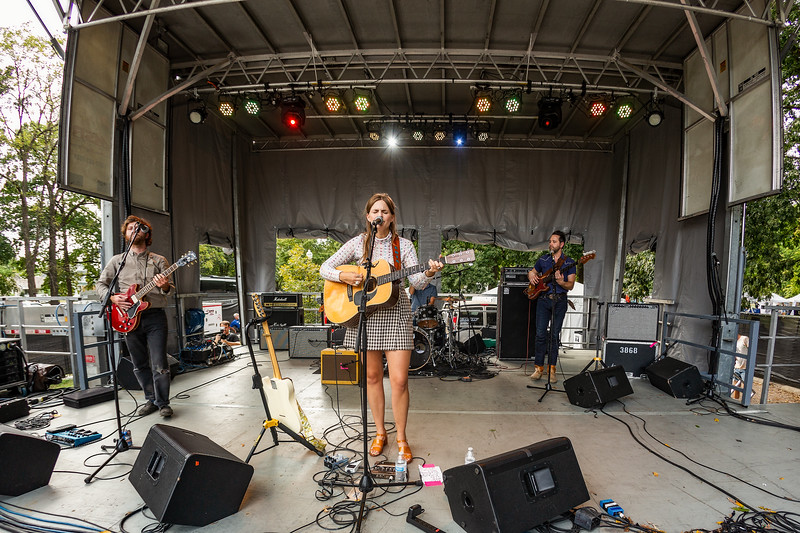 Erin Rae on the Hilltop Stage at Holler on the Hill. Photo by Tony Vasquez.