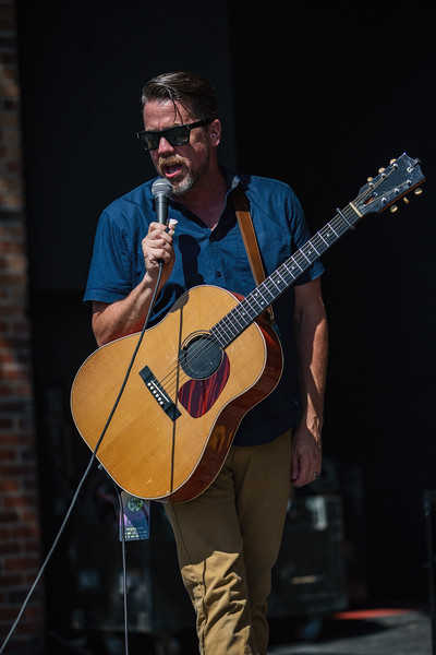Patrick Sweany on the Main Stage at Holler on the Hill. Photo by Tony Vasquez.