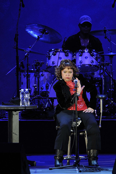 Legendary Blues Singer Etta James performs at the Hollywood Bowl on Wednesday, August 13, 2008<br /> in  Los Angeles, CA<br /> (AP Photo/Earl Gibson III)