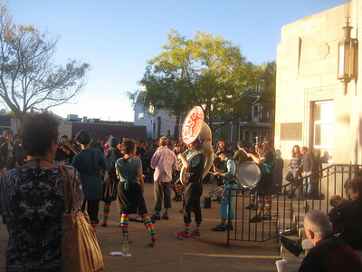 Factory Seconds and The Barrage Band played in front of  Dilboy Hall, 5-6 pm Sat.