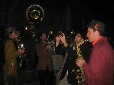 Veveritse  playing compelling Balkan tunes.   I danced and danced, even though my feet were tired.