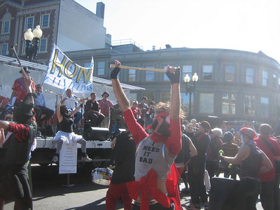 Passing the main stage at Harvard Square