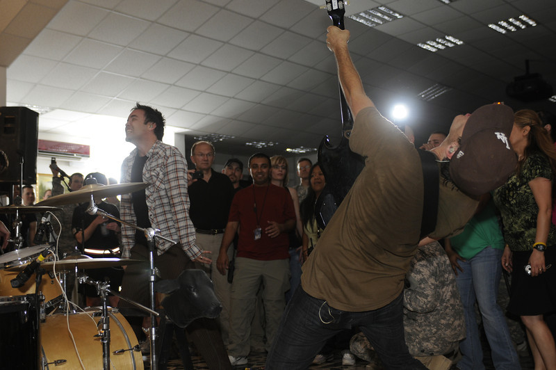 Hoobastank at FOB Union III, Baghdad, Iraq, June 23, 2011. © Brandon Lingle