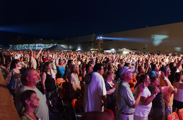 Foreigner performed Saturday evening at Hoosier Park as part of their summer concert series.