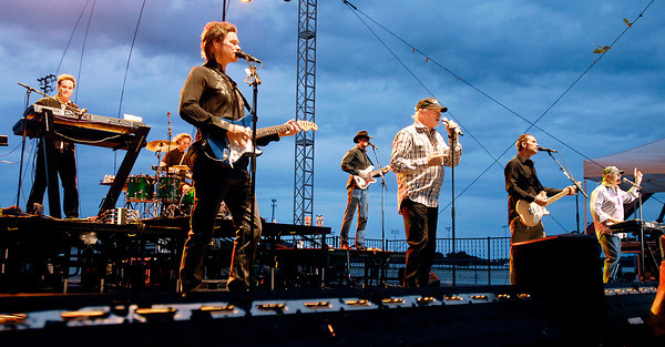 With stormy skies overhead The Beach Boys performed to a packed house at Hoosier Park Racing & Casio Saturday evening.  This was the last show for Hoosier Park's Summer Concert Series.