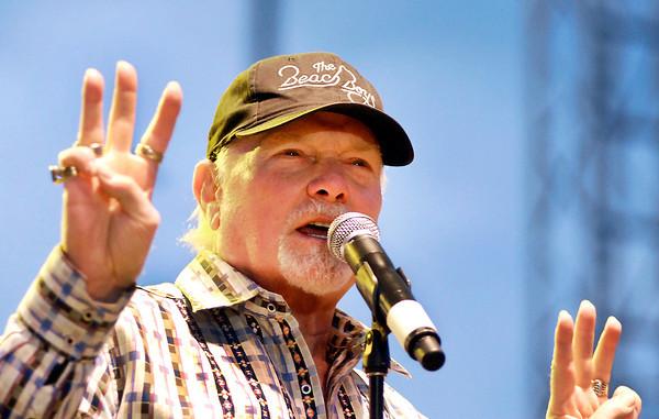 The Beach Boys' lead singer Mike Love performs at Hoosier Park.