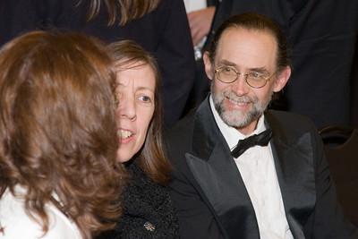 Mark Welch with HSO volunteer Sarah Poynton -- HSO 25th anniversary post-concert Gala