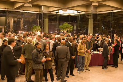 The Glass Pavilion crowd listens to Jed Gaylin speak -- HSO 25th anniversary post-concert Gala