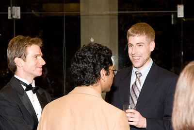 Martin Shultz and Sujay Pathak with Matt Stofferahn -- HSO 25th anniversary post-concert Gala