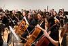 Cello section (L-R, Sharon Aldouby, Eva Silversmith, Stephanie Hsu, Leilani Ma)-- Hopkins Symphony Orchestra, March 2008