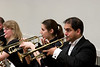(R-to-L) Dipak Srinivasan, Erin Zaroukian, trumpet, Natica Blanch-Losee, horn -- Hopkins Symphony Orchestra, March 2008