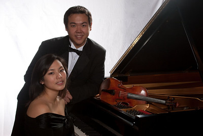 Hyun-Sun Seo, piano, and Patrick Hu, violin,  co-winners of the 2010 Hopkins Symphony Orchestra Concerto Competition