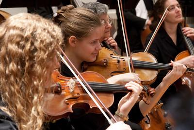 Heather Merchut and Ciara McAfee, violins -- Hopkins Symphony Orchestra, March 2011