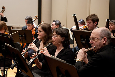 Claire Lyons and Mary Haaser, oboes, Steve Haaser,  flute -- Hopkins Symphony Orchestra, March 2011