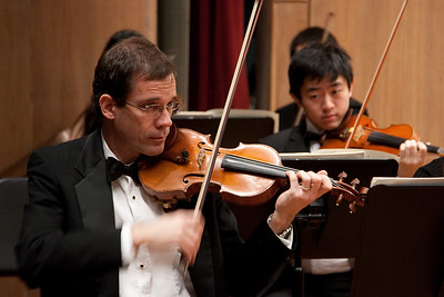 Andy White (and Sebastian Kwon), violins -- Hopkins Symphony Orchestra, March 2011