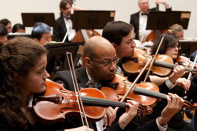 Pervinca Rista, John Stanmore, Andrew Wisneski, Samira Saliba Phillips, violins -- Hopkins Symphony Orchestra, March 2011