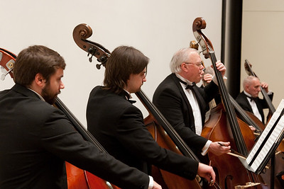 Tommy Nelson, Charles Ermer, David Starck, Ellie Briggs, bass -- Hopkins Symphony Orchestra, March 2011
