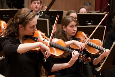Emily Moore and Malinda McPherson, violas -- Hopkins Symphony Orchestra, March 2011