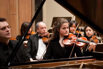 Enrico Elisi, piano soloist, and Pervinca Rista, concertmaster -- Hopkins Symphony Orchestra, March 2011