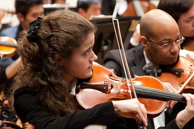 Pervinca Rista, concertmaster -- Hopkins Symphony Orchestra, March 2011