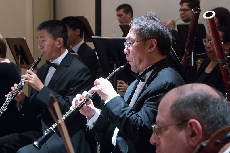 Keith Kaneda (center) -- Hopkins Symphony Orchestra, April 2017