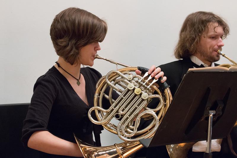 Jocelyn Haversat, David Jones, horns -- Hopkins Symphony Orchestra, April 2017