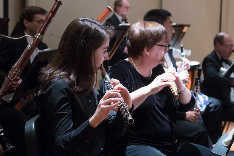 Linda Krasniewski, Colleen Darkow -- Hopkins Symphony Orchestra, April 2017