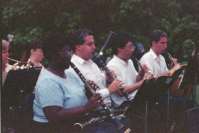 1990 HSO Concert: Jean Gover, Larry Brown, Keith Kaneda, Charlie Marsh; back row: Natica Blanch (Losee), Margaret Pusztai