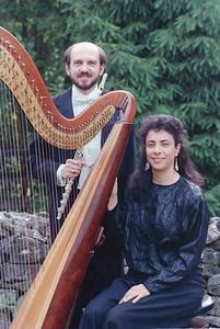 Steve Haaser (principal flute) with Deborah Fleisher (harp) performed the Mozart Flute & Harp Concerto with the Hopkins Symphony Orchestra October 29, 1989