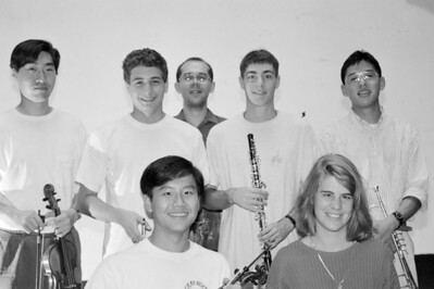 HSO 1992: front row Anthony Hsieh, Suzanne Datto; back row: ____, Anthony deBella, Istvan Szabo (CM), Chris Gregg, Mike Shin (Don't be fooled: several people swapped instruments for this photo!)