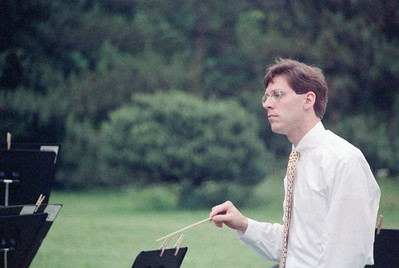 Eric Townell, Music Director (interim) of the HSO, June 1990 concert at Evergreen House