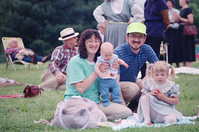 Steve and Mary Haaser and family (June 1990, HSO concert at Evergreen House)