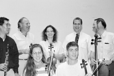 HSO musicians (Charles Village?): front row: Maureen Sullivan, Chris Gregg back row: Keith Kaneda, Knut Ra, Jennifer Emtage, Larry Brown, Dan Gleckler